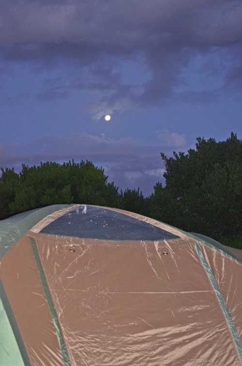 Tent with moon